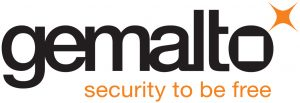 Gemalto logo met tekst 'Security to be free'